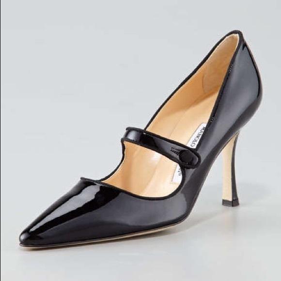 Manolo Blahnik Campari Patent Leather Mary Janes. M 573fcf4efbf6f9f307015287 f3dae8177