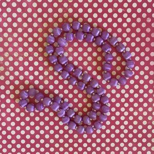 "Jewelry - Vintage 1950s-1960s Lavender ""Satin"" Bead Necklace"