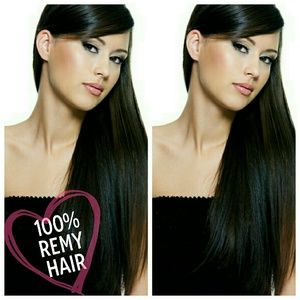 "Other - 24"" Natural Black Remy Clip-In Extensions"