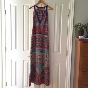 Kachel 100% Silk Maxi Dress Aus 10, US 6