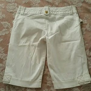 Cache Shorts - White Stretchy Shorts
