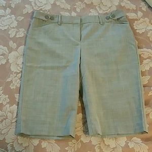editor Pants - Gray Stretchy Trouser Shorts