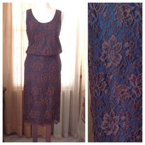 Tibi Dresses & Skirts - Tibi brown lace one piece dress