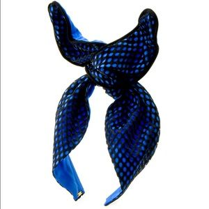 Colette Malouf Accessories - Blue Silk Twist Headband Colette Malouf