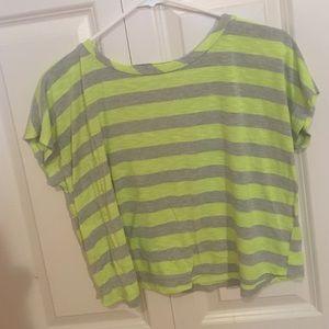 Neon striped crop top - Sparkle & Fade