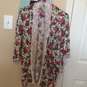 Floral cotton cover up