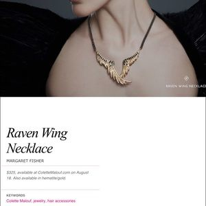 Colette Malouf Jewelry - Colette Malouf 14KGold Raven Wing Necklace