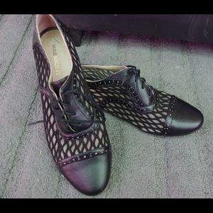 Black mesh sole society flat