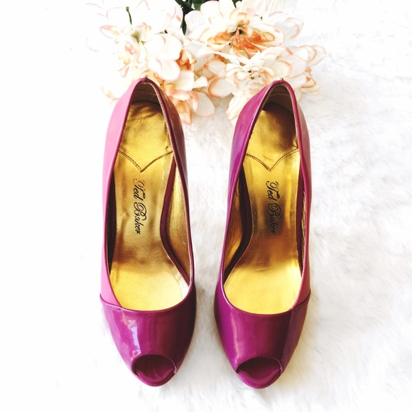 ae42d8a8e Ted Baker Pink Patent & Leather Peep Toe Heels. M_573a4695620ff7c9eb00d146