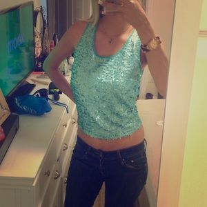 Charlotte Russe Tops - Turquoise tank top