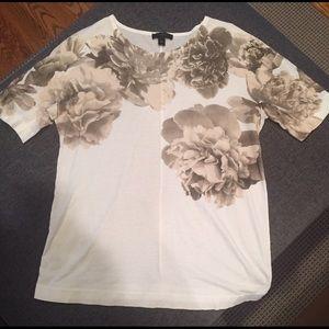 XS Jcrew floral t-shirt