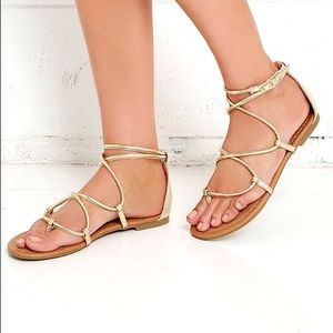 Report Shoes - REPORT gold strappy sandals