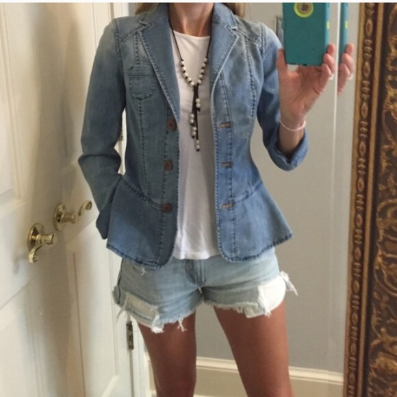 latest selection of 2019 genuine shoes great discount for Anthropologie size 2 peplum jean jacket