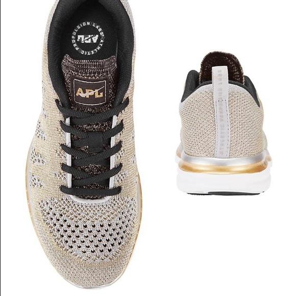 018750bffa4d APL Techloom Pro Sneaker size 8 silver gold black