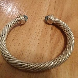 David Yurman Jewelry - David Yurman Blue Topaz Cable Bracelet!