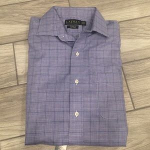 Brand New With Tag✨ Mens Blue Plaid Dress Shirt