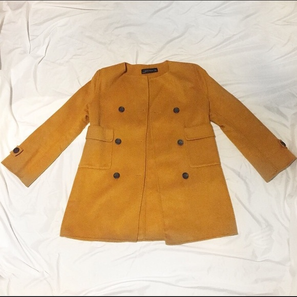 Zara Jackets & Coats - Mustard jacket
