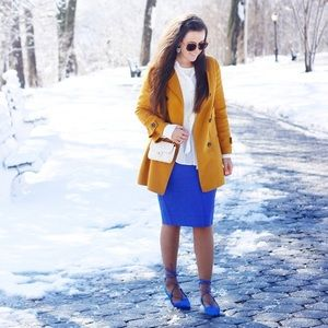 Zara Jackets & Coats - Mustard jacket 1