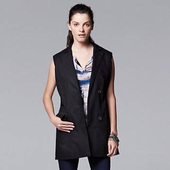 823195a025c Simply Vera Wang blazer vest. BRAND NEW!
