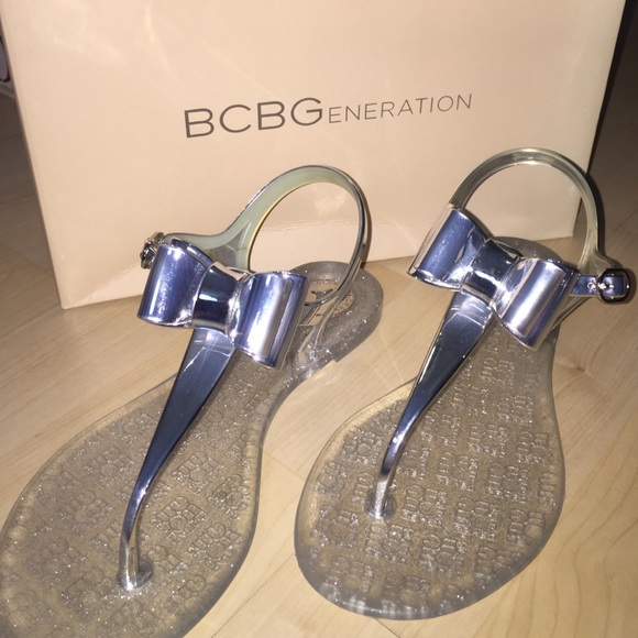 ebb9f6596ae9 BCBGeneration Shoes - BRAND NEW BCBG SILVER JELLY SANDALS. US SIZE 6
