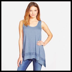 Sun And Shadow Tops - ❗1-HOUR SALE❗Tunic Hi Lo Swing Top Lace Trim