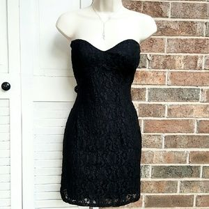 Mystic lace and mesh dress