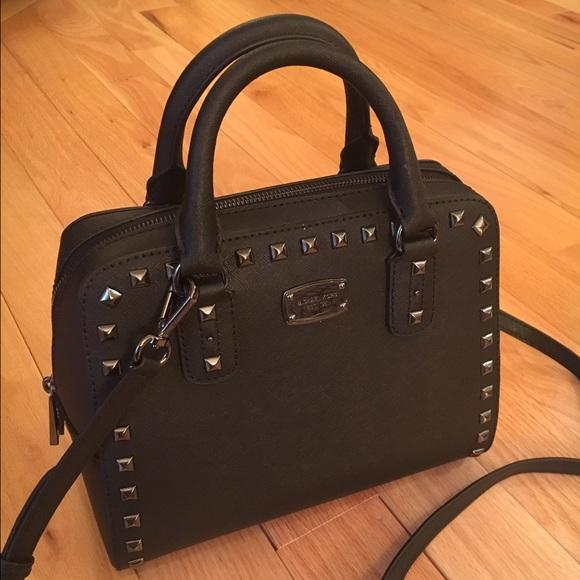 d633597c9b56 Michael Kors Bags | New Studded Saffiano Satchel | Poshmark