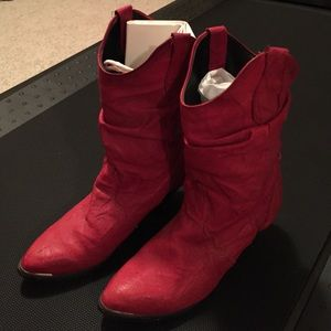 Vintage red cowgirl boots