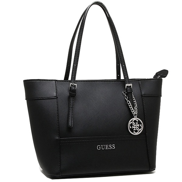 Guess Handbags - Black Leather Guess Small Tote Bag f1d0301f1af01