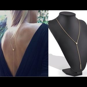 DARLING Jewelry - 🆕 GOLD CHAIN TASSEL HEART BACK NECKLACE