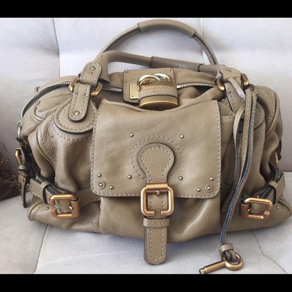 4d978bf9 Taupe Chloé Paddington Large Shoulder Bag