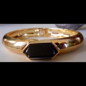 Vince Camuto Jewelry - Vince Camuto Faux Black Gemstone/Gold ToneBracelet