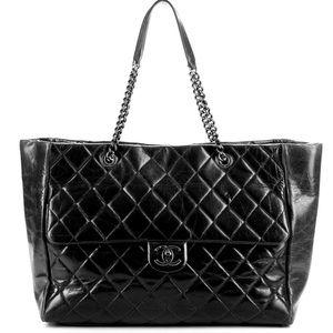 CHANEL Handbags - Chanel Glazed Calfskin Large Shopper Flap  Tote