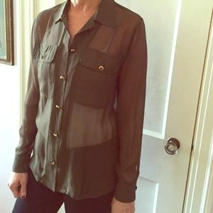 Line & Dot Tops - SALE Line & Dot Military Blouse XS NWOT