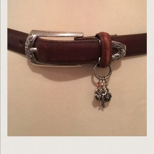 Brighton Brown Belt with Silver Embellishments