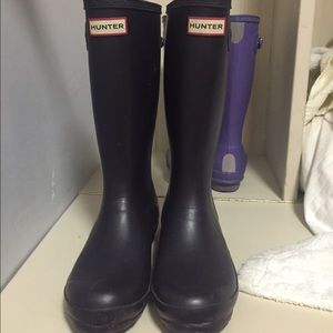 Plum Dark Purple Hunter Boots Rainboot