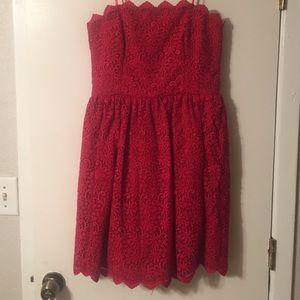 Jill Stuart - Red strapless dress. Never been worn