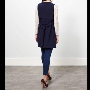 Miss selfridge Jackets & Blazers - Navy open front vest