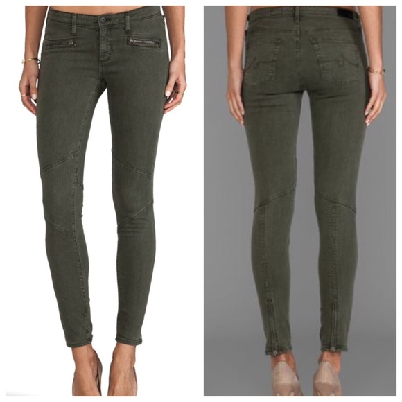 Ag Jeans Woman Mid-rise Skinny Jeans Grey Green Size 24 AG - Adriano Goldschmied Discount In China High Quality Cheap Online Visa Payment Online bEZY2i