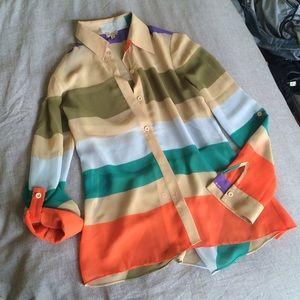 Daniel Cremieux Tops - Daniel Cremieux Stripe Button Up Blouse :: XS
