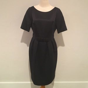 Carolina Herrera Gray Silk Blend Dress 8 NWT