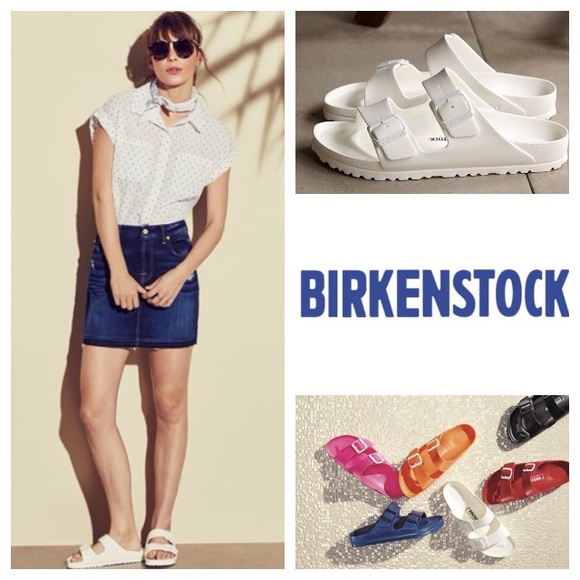 cb9e2e51b13e Birkenstock Shoes - NEW! Birkinstock EVA Arizona slide sandal in white