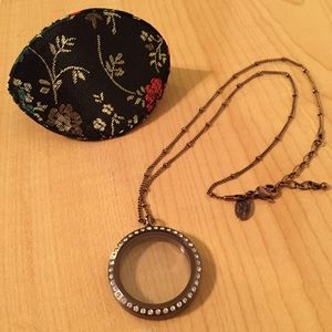 Origami Owl Jewelry - Origami Owl Chocolate Brown Magnetic Locket.
