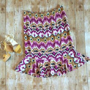 Sag Harbor Dresses & Skirts - ✂ Ikat rayon skirt