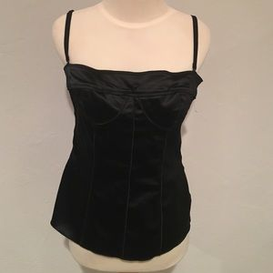 Dolce & Gabana Black Silk Boustier Top