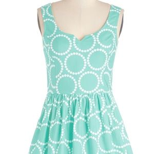 Modcloth Air of Adorable Dress in Mint XL