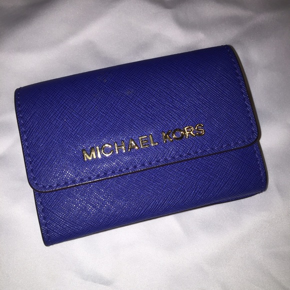 4ff80725aac0d6 Authentic Michael Kors Royal Blue Small ID Wallet.  M_573ab01cbcd4a729840a2a71
