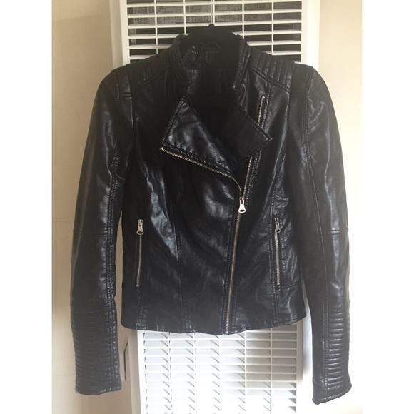 6dd2e550 Zara Jackets & Coats | Faux Leather Jacket | Poshmark