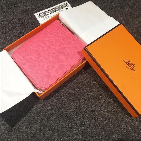27c692cb8c27  sold NWT Hermes silkin wallet rose azalee