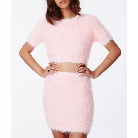 a445720912890 Ashlyn fluffy knit crop top and mini skirt set. M 573ab47fb4188e36080a2e2e